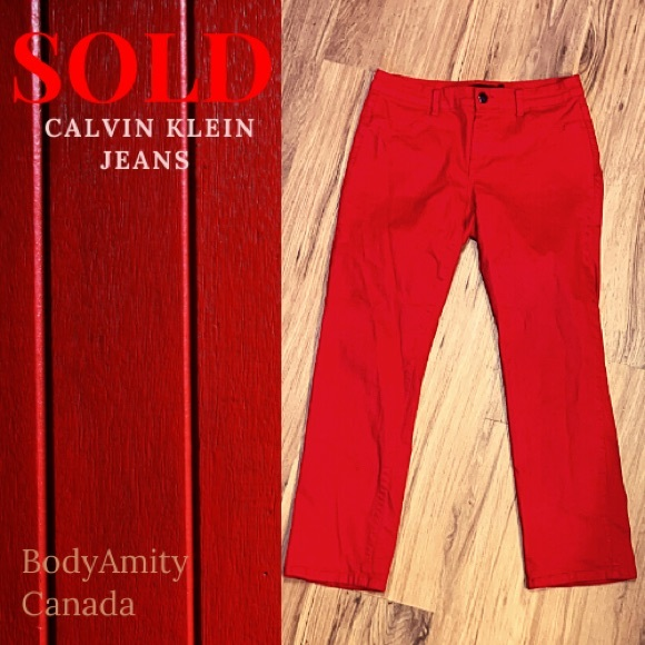 Calvin Klein, Red Skinny Jeans, Size 29/8P
